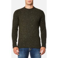 Barbour Mens Netherby Crew Neck Knitted Jumper - Forest - XXL - Green
