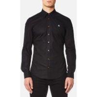Vivienne Westwood MAN Men's Stretch Poplin Classic Shirt - Black - EU 54/XXL - Black