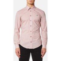 Vivienne Westwood MAN Men's Stretch Poplin Classic Shirt - Pink - EU 54/XXL - Pink