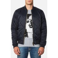 Barbour X Steve McQueen Men's Quilt Bomber Jacket - Navy - XL - Navy