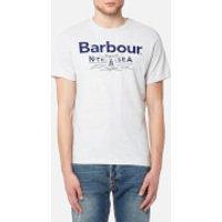 Barbour Mens Cove T-Shirt - Ecru Marl - L - White