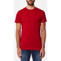 Hackett Mens Short Sleeve Logo T-Shirt - Red - M - Red