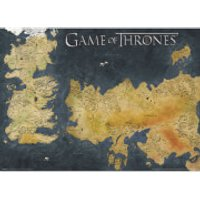 Game of Thrones Poster (Westeros And Essos Antique Map) - Game Of Thrones Gifts
