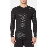 Reebok Men's Hexawarm Long Sleeve Compression T-Shirt - Black - XXL - Black