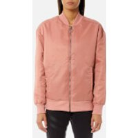 Reebok Womens Linear Bomber Jacket - Sandy Rose - S - Pink