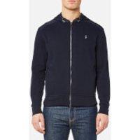 Polo Ralph Lauren Men's Nylon/Fleece Full Zip Jacket - Aviator Navy - XL - Navy