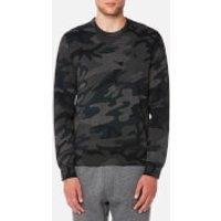 Polo Ralph Lauren Men's Double Knitted Crew Neck Sweatshirt - Grey Multi Camo - L - Grey