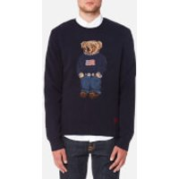 Polo Ralph Lauren Men's Bear Logo Crew Knitted Jumper - Navy - L - Navy