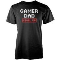 Gamer Dad Level Up Men's Black T-Shirt - XXL - Black