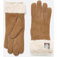 UGG Australia Women's Sheepskin Classic Turn Cuff Gloves - Chestnut - S - Tan