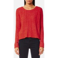 Samsoe & Samsoe Women's Nor On Short Ribbed Jumper - High Red Melange - L - Red