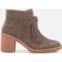 UGG Womens Corin Suede Heeled Ankle Boots - Mouse - UK 5.5 - Grey
