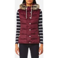 Barbour Womens Beachley Gilet - Carmine - UK 8 - Red