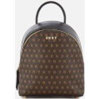 dkny-women-coated-logo-mini-backpack-brown-logo