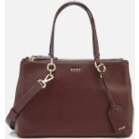 DKNY Womens Chelsea Pebbled Leather Small Shopper Bag - Cordovan