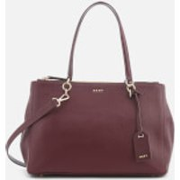 DKNY Womens Chelsea Pebbled Leather Large Shopper Bag - Cordovan