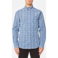 GANT Mens Broadcloth Check Shirt - Indigo - XL - Blue