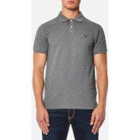 GANT Mens Contrast Collar Polo Shirt - Grey - L - Grey