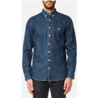 GANT Mens Indigo Button Down Shirt - Indigo - L - Blue