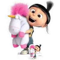 Despicable Me 3: Agnes and Fluffy Unicorn Over-Sized Cut Out - Despicable Me Gifts