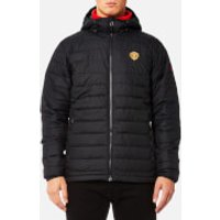 Columbia Mens Manchester United Powder Lite Hooded Jacket - Black - XL - Black