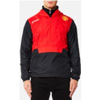 Columbia Mens Manchester United Flashback Windbreaker Pullover - Cherrybomb - M - Red