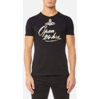 Vivienne Westwood Anglomania Mens Classic T-Shirt - 24 Hours Black - S - Black
