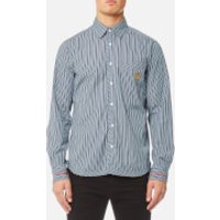 Vivienne Westwood Anglomania Mens Classic Shirt - Blue Stripes - L - Blue