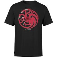 Game of Thrones Targaryen Fire and Blood Mens Black T-Shirt - S - Black