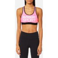 Superdry Sport Womens Essential Graphic Bra - Pop Pink - XS - Pink