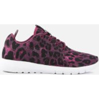 Superdry Sport Womens Scuba Sport Running Shoes - Burgundy Sport Leopard - UK 4 - Red