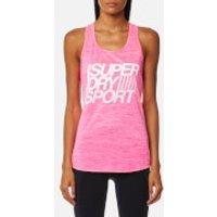 Superdry Sport Womens Fitspiration Tank Top - Pop Pink - M - Pink