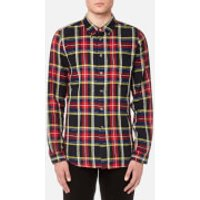 PS by Paul Smith Men's Checked Long Sleeve Shirt - Navy/Red - XXL - Navy