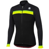 Sportful Pista Thermal Jersey - Black/Anthracite - M - Black/Anthracite