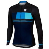 Sportful Stripe Thermal Jersey - Black Iris/Black - XL - Black Iris/Black