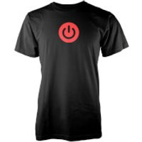 Gaming Power Button Mens Black T-Shirt - XXL - Black
