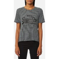 Superdry Womens Vintage Logo Boxy T-Shirt - Black/Grey - XS - Black