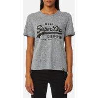 Superdry Womens Vintage Logo Boxy T-Shirt - Grey Dot Print - XS - Grey