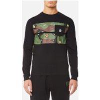Billionaire Boys Club Mens Space Camo Stripe Long Sleeve T-Shirt - Black - XXL - Black