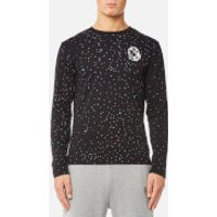 Billionaire Boys Club Mens Galaxy Long Sleeve T-Shirt - Black - XL - Black