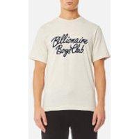 Billionaire Boys Club Mens Flock Script Logo T-Shirt - Oat - L - Cream