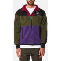 Billionaire Boys Club Mens Panelled Sherpa Fleece Zip Through Jacket - Green/Purple/Red - M - Green
