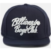 Billionaire Boys Club Mens Script Logo Snapback Cap - Navy