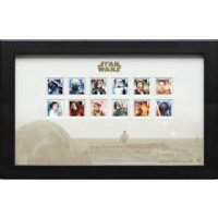 Star Wars Framed Stamps - 12 Characters Designed By Malcolm Tween (43cm x 27cm)