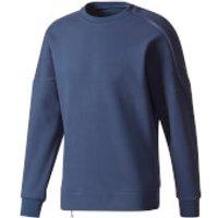 adidas Mens ZNE Training Crew Sweatshirt - Navy - M - Navy