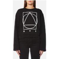 McQ Alexander McQueen Women's Boxy Kimono Logo Sweatshirt - Darkest Black - L - Black