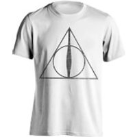 Harry Potter Men's Deathly Hallows Symbol T-Shirt - White - XL - White - Harry Potter Gifts