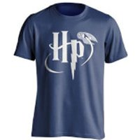 Harry Potter Men's Snitch Logo T-Shirt - Blue - L - Blue - Harry Potter Gifts