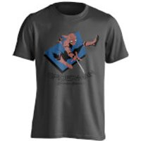 Marvel Spider-Man Mens Spider Jump T-Shirt - Charcoal - L