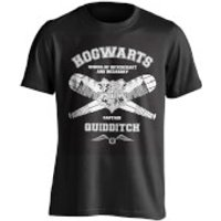 Harry Potter Men's Quidditch Captain T-Shirt - Black - XL - Black - Harry Potter Gifts